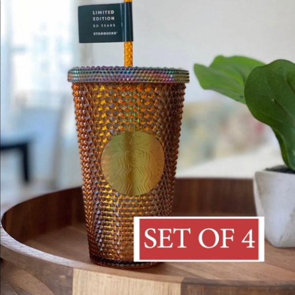 Starbucks Gold Studded Grande Cup 4 Pcs